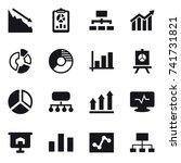 16 vector icon set   crisis ...