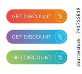 get discount button vector | Shutterstock .eps vector #741733819