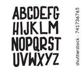 vector alphabet. custom letters.... | Shutterstock .eps vector #741736765
