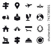 16 vector icon set   singlepost ... | Shutterstock .eps vector #741738331