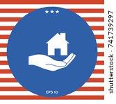hand holding home | Shutterstock .eps vector #741739297