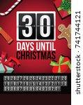 countdown to christmas flip... | Shutterstock .eps vector #741744121