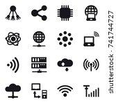 16 vector icon set   share ... | Shutterstock .eps vector #741744727