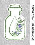 a bottle with essential oil of... | Shutterstock .eps vector #741750289