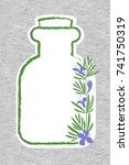 a bottle with essential oil of... | Shutterstock .eps vector #741750319