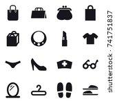 16 vector icon set   shopping...   Shutterstock .eps vector #741751837