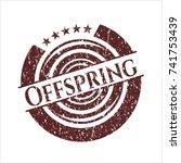 red offspring distress rubber... | Shutterstock .eps vector #741753439