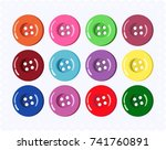 vector collection of buttons... | Shutterstock .eps vector #741760891