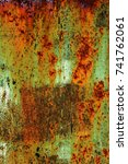 abstract rusty metal texture ... | Shutterstock . vector #741762061