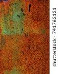 abstract rusty metal texture ... | Shutterstock . vector #741762121