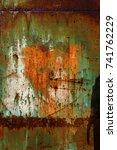 abstract rusty metal texture ... | Shutterstock . vector #741762229