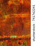 abstract rusty metal texture ... | Shutterstock . vector #741762241