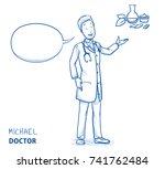 Modern Doctor In White Coat An...