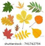 vector collection of autumn...   Shutterstock .eps vector #741762754