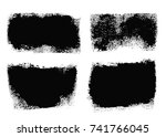brush strokes text boxes.... | Shutterstock .eps vector #741766045