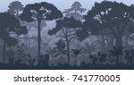 vector evening tropical...   Shutterstock .eps vector #741770005