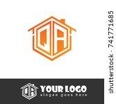 initial letter q  a  qa... | Shutterstock .eps vector #741771685