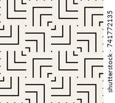 vector seamless pattern. modern ... | Shutterstock .eps vector #741772135