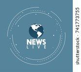 news anchor on tv breaking news ... | Shutterstock .eps vector #741773755