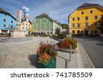tamsweg  austria   october 11 ... | Shutterstock . vector #741785509