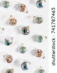 holiday pattern. christmas... | Shutterstock . vector #741787465