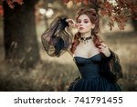 portrait of magnificent fashion ... | Shutterstock . vector #741791455
