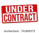 under contract grunge rubber... | Shutterstock .eps vector #741800575