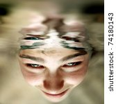 Photo Of Boy Face Under Water