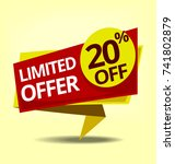 vector limited offer discount... | Shutterstock .eps vector #741802879