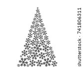 christmas tree made from... | Shutterstock .eps vector #741806311