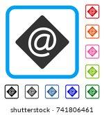 email icon. flat grey iconic...