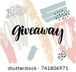 giveaway banner with modern... | Shutterstock .eps vector #741806971