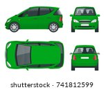 small compact electric vehicle... | Shutterstock .eps vector #741812599