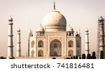 the taj mahal   one of the 7... | Shutterstock . vector #741816481