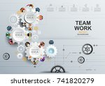business meeting and... | Shutterstock .eps vector #741820279