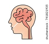 human head and brain icon mind... | Shutterstock .eps vector #741821935