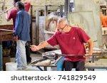 venice italy   july 27  2017  ...   Shutterstock . vector #741829549