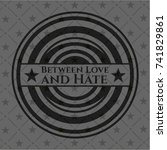 between love and hate black... | Shutterstock .eps vector #741829861