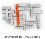 3d disruption word cloud concept | Shutterstock . vector #741834841