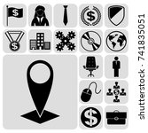 set of 17 business high quality ... | Shutterstock .eps vector #741835051