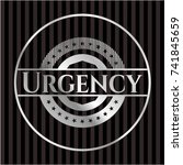 urgency silvery badge | Shutterstock .eps vector #741845659