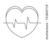 heart cardiology isolated icon | Shutterstock .eps vector #741845719