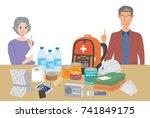 objects useful in emergency... | Shutterstock .eps vector #741849175