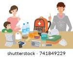 objects useful in emergency...   Shutterstock .eps vector #741849229