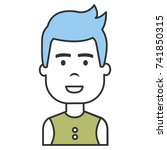 young man avatar character | Shutterstock .eps vector #741850315