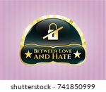 gold badge or emblem with... | Shutterstock .eps vector #741850999