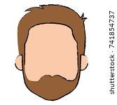 young man head avatar character | Shutterstock .eps vector #741854737