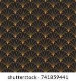 vintage art deco seamless...   Shutterstock .eps vector #741859441