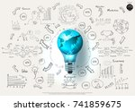 world and lighting   text... | Shutterstock .eps vector #741859675