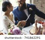 Couple Hands Holding Wedding...